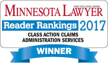 Rust Consulting, Inc Minnesota Lawyer Class Action Claims Administration Services 2017 Winner